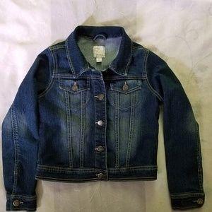 1989 Place Girls Jean Jacket Size L 10/12